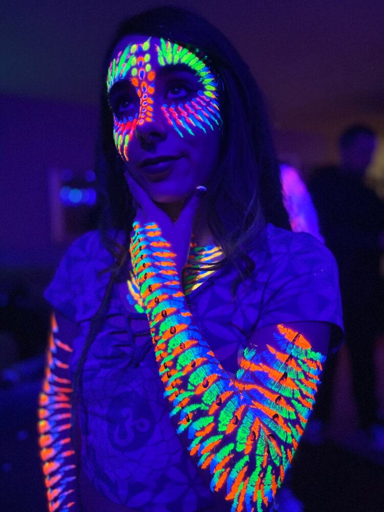 Black Light Face & Body Painting